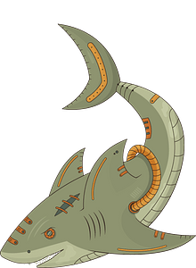 Steampunk Shark clipart