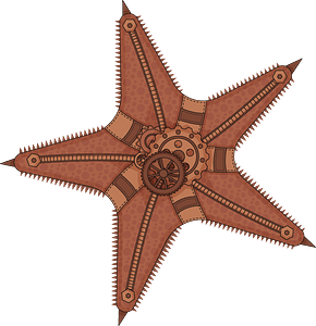 Steampunk Starfish clipart