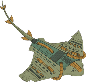 Steampunk Stingray clipart