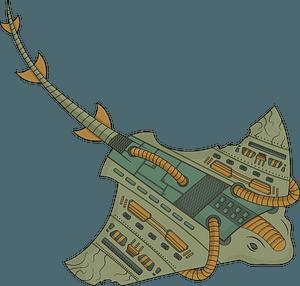 Steampunk Stingray clipart
