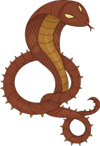 Steampunk Snake clipart