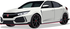 Honda Civic Type R clipart