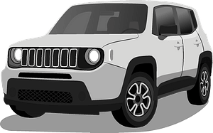 Jeep Renegade clipart