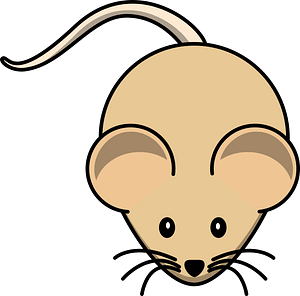 Cartoon brown mouse clipart