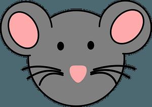 Cartoon mouse face 剪贴画