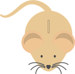 Mouse money box clipart