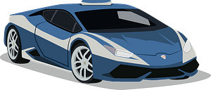 Lamborghini Police Car clipart
