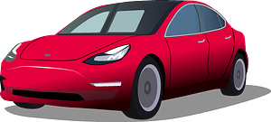 Tesla Model 3 clipart
