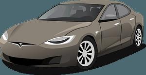 Tesla Model S clipart