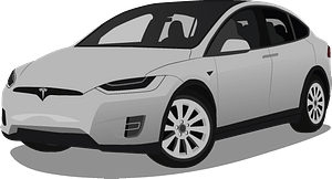 Tesla Model X clipart