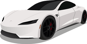 Tesla Roadster clipart