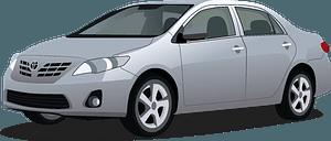 Toyota Corolla clipart