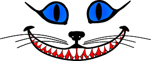 Cheshire cat face clipart