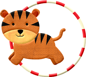 Cartoon circus tiger 클립 아트