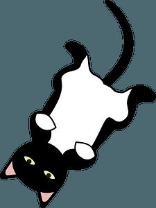Cat relaxing clipart
