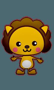 귀여운 사자 클립 아트
