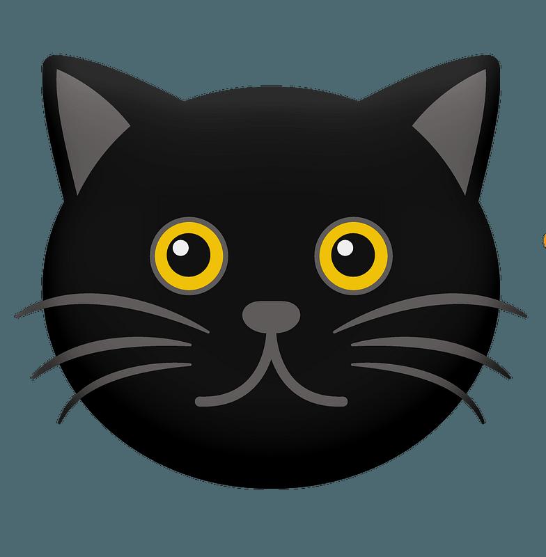 Cartoon Black Cat Face Clipart Free Download Transparent Png