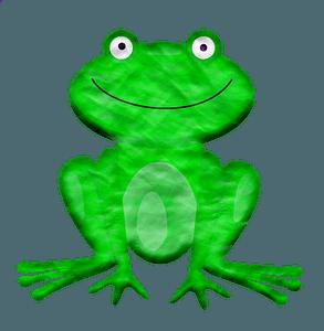Cartoon frog clipart