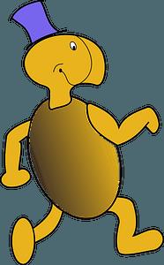 Funny cartoon turtle clipart