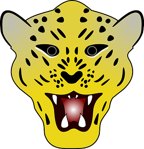 Leopard head clipart