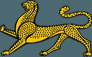 Stylized leopard clipart