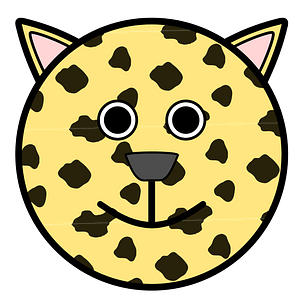 Round leopard face 클립 아트