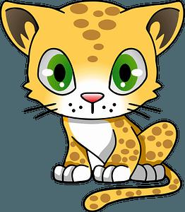 Cartoon little leopard 클립 아트