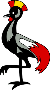 Grey crowned crane clipart