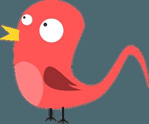 Pink cartoon bird clipart