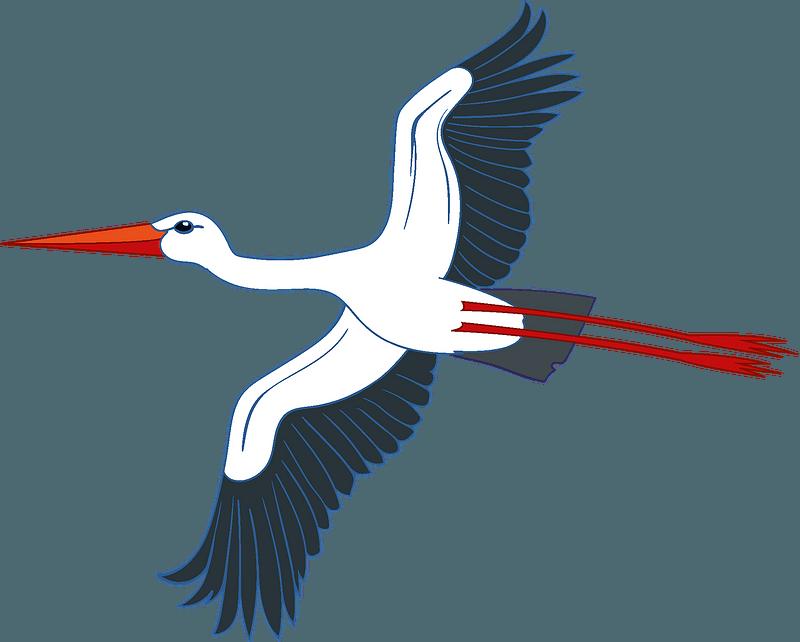 Stork clipart