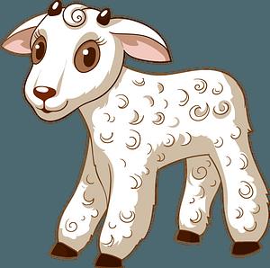 Lambのクリップアート