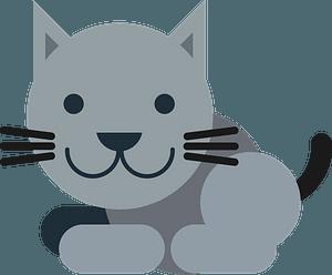 Cartoon grey cat clipart