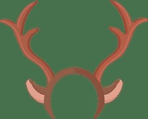 Reindeer antlers clipart