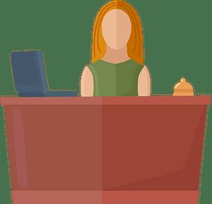 Reception desk clipart