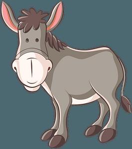 Cartoon donkey clipart