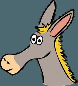 Drawn donkey clipart