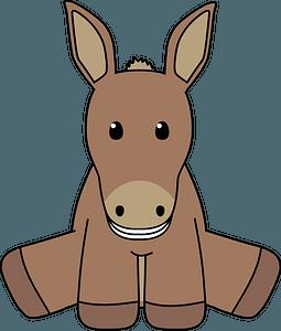 Smiling donkey clipart