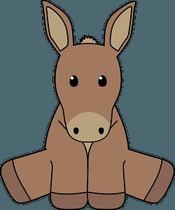 Sitting donkey clipart