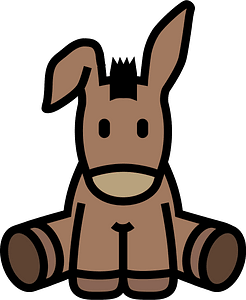 Donkey icon clipart