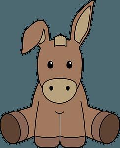 Cute donkey clipart