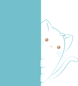 Cat hiding behind a wall clipart