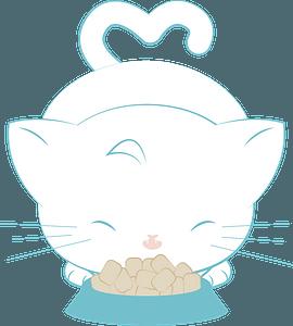 Cartoon eating cat clipart