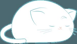 Cartoon sleeping cat clipart