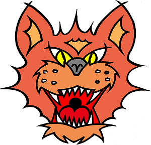 Wild cat face clipart