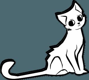 Cute cartoon cat clipart