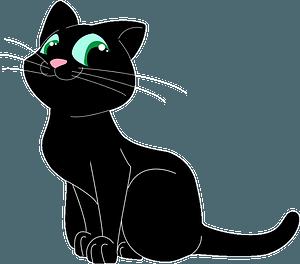 Black cartoon cat clipart