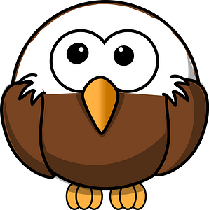 Cartoon eagle looking up clipart