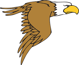 Flying cartoon eagle clipart