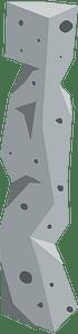 Grey stone pillar clipart