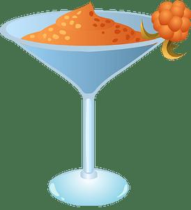Orange drink in martini glass clipart